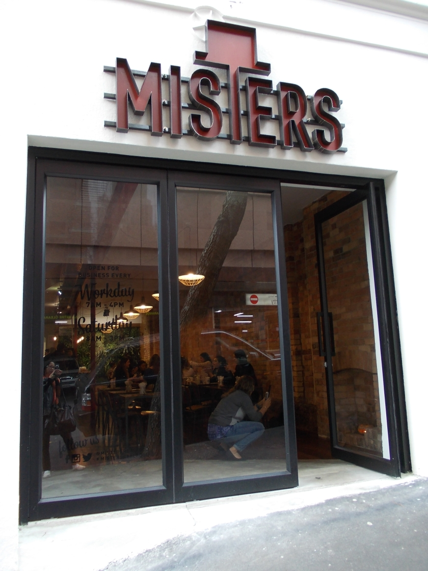 The lovely exterior facade of Misters Cafe