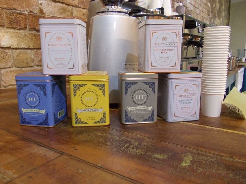 Misters Cafe Harney and Sons teas
