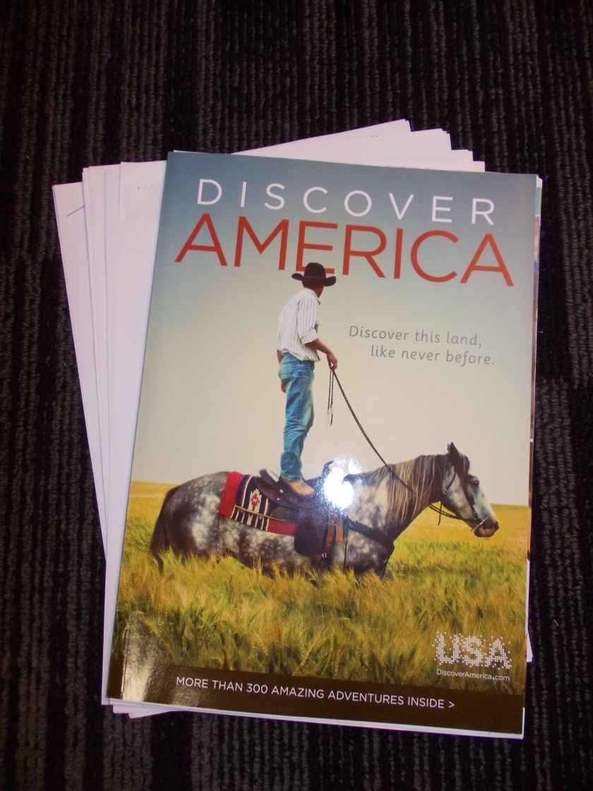 These were the actual US Visa documents I brought with me on the interview appointment, including the Discover America brochure I got to read while waiting